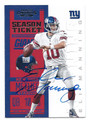 ELI MANNING NEW YORK GIANTS AUTOGRAPHED FOOTBALL CARD #90316C