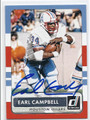 EARL CAMPBELL HOUSTON OILERS AUTOGRAPHED FOOTBALL CARD #90616F