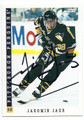 JAROMIR JAGR PITTSBURGH PENGUINS AUTOGRAPHED HOCKEY CARD #90916B