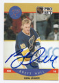 BRETT HULL ST LOUIS BLUES AUTOGRAPHED HOCKEY CARD #91116A