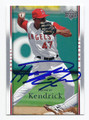 HOWIE KENDRICK LOS ANGELES ANGELS OF ANAHEIM AUTOGRAPHED BASEBALL CARD  #91216C