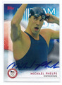 MICHAEL PHELPS OLYMPIC SWIMMING AUTOGRAPHED CARD #91316D