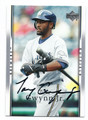 TONY GWYNN JR MILWAUKEE BREWERS AUTOGRAPHED BASEBALL CARD #91316E