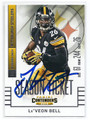 Le'VEON BELL PITTSBURGH STEELERS AUTOGRAPHED FOOTBALL CARD #91316F