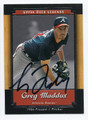 GREG MADDUX ATLANTA BRAVES AUTOGRAPHED BASEBALL CARD #91416E