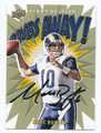 MARC BULGER ST LOUIS RAMS AUTOGRAPHED FOOTBALL CARD #91416F
