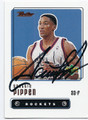 SCOTTIE PIPPEN HOUSTON ROCKETS AUTOGRAPHED BASKETBALL CARD #92016D