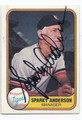 SPARKY ANDERSON DETROIT TIGERS AUTOGRAPHED VINTAGE BASEBALL CARD #92116B