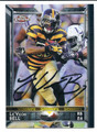Le'VEON BELL PITTSBURGH STEELERS AUTOGRAPHED FOOTBALL CARD #92216A