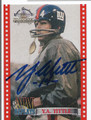 YA TITTLE NEW YORK GIANTS AUTOGRAPHED FOOTBALL CARD #92216D
