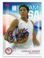 CANDACE PARKER AUTOGRAPHED OLYMPIC BASKETBALL CARD #92716C