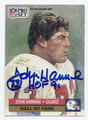 JOHN HANNAH NEW ENGLAND PATRIOTS AUTOGRAPHED FOOTBALL CARD #92716D