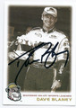 DAVE BLANEY AUTOGRAPHED NASCAR CARD #92816D