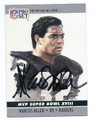 MARCUS ALLEN LOS ANGELES RAIDERS AUTOGRAPHED FOOTBALL CARD #92816E