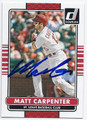 MATT CARPENTER ST LOUIS CARDINALS AUTOGRAPHED BASEBALL CARD #92916C