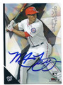 MICHAEL TAYLOR WASHINGTON NATIONALS AUTOGRAPHED ROOKIE BASEBALL CARD #92916F