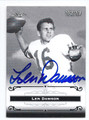 LEN DAWSON PURDUE UNIVERSITY BOILERMAKERS AUTOGRAPHED FOOTBALL CARD #93016A