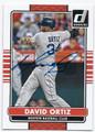 DAVID ORTIZ BOSTON RED SOX AUTOGRAPHED BASEBALL CARD #93016B