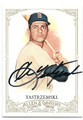 CARL YASTRZEMSKI BOSTON RED SOX AUTOGRAPHED BASEBALL CARD #100216A