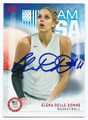 ELENA DELLE DONNE US OLYMPIC BASKETBALL TEAM AUTOGRAPHED CARD #100216C