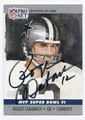ROGER STAUBACH DALLAS COWBOYS AUTOGRAPHED FOOTBALL CARD  #100216D