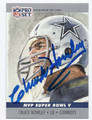CHUCK HOWLEY DALLAS COWBOYS AUTOGRAPHED FOOTBALL CARD #100316C