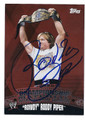 ROWDY RODDY PIPER AUTOGRAPHED WRESTLING CARD #100416A