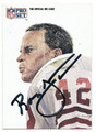 RONNIE LOTT SAN FRANCISCO 49ers AUTOGRAPHED FOOTBALL CARD #100516A
