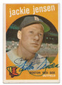 JACKIE JENSEN BOSTON RED SOX AUTOGRAPHED VINTAGE BASEBALL CARD #100516B