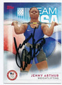 JENNY ARTHUR US OLYMPIC TEAM WEIGHTLIFTING AUTOGRAPHED CARD #100516E