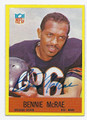 BENNIE McRAE CHICAGO BEARS AUTOGRAPHED VINTAGE FOOTBALL CARD #100716A