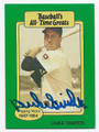 DUKE SNIDER BROOKLYN DODGERS AUTOGRAPHED VINTAGE BASEBALL CARD #100716F