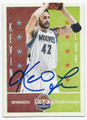 KEVIN LOVE MINNESOTA TIMBERWOLVES AUTOGRAPHED BASKETBALL CARD #100816E