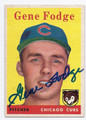 GENE FODGE CHICAGO CUBS AUTOGRAPHED VINTAGE ROOKIE BASEBALL CARD #100916F
