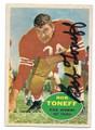 BOB TONEFF WASHINGTON REDSKINS AUTOGRAPHED VINTAGE FOOTBALL CARD #101016A