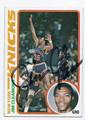 JIM CLEAMONS NEW YORK KNICKS AUTOGRAPHED VINTAGE BASKETBALL CARD #101016B