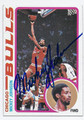 MICKEY JOHNSON CHICAGO BULLS AUTOGRAPHED VINTAGE BASKETBALL CARD #101016F