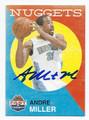 ANDRE MILLER DENVER NUGGETS AUTOGRAPHED BASKETBALL CARD #101116F