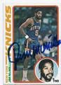 JIMMcMILLIAN NEW YORK KNICKS AUTOGRAPHED VINTAGE BASKETBALL CARD #101216A