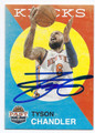 TYSON CHANDLER NEW YORK KNICKS AUTOGRAPHED BASKETBALL CARD #101216C