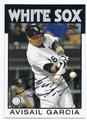 AVISAIL GARCIA CHICAGO WHITE SOX AUTOGRAPHED BASEBALL CARD #101816A