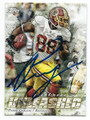 PIERRE GARCON WASHINGTON REDSKINS AUTOGRAPHED FOOTBALL CARD #101816F