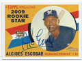 ALCIDES ESCOBAR MILWAUKEE BREWERS AUTOGRAPHED ROOKIE BASEBALL CARD #101916A
