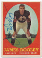 JAMES DOOLEY CHICAGO BEARS AUTOGRAPHED VINTAGE FOOTBALL CARD #101916C