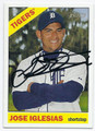 JOSE IGLESIAS DETROIT TIGERS AUTOGRAPHED BASEBALL CARD #101916D