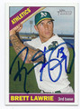 BRETT LAWRIE OAKLAND ATHLETICS AUTOGRAPHED BASEBALL CARD #102116C