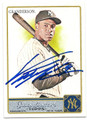 CURTIS GRANDERSON NEW YORK YANKEES AUTOGRAPHED BASEBALL CARD #102416A