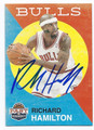 RICHARD HAMILTON CHICAGO BULLS AUTOGRAPHED BASKETBALL CARD #102416F