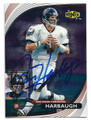 JIM HARBAUGH SAN DIEGO CHARGERS AUTOGRAPHED FOOTBALL CARD #102516B