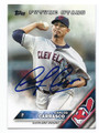CARLOS CARRASCO CLEVELAND INDIANS AUTOGRAPHED BASEBALL CARD #110116C